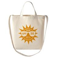 [客製化20個] 37.5*35*10cm 大尺寸手提斜背兩用胚布帆布袋購物袋 (LOGO網版印刷) S1-01031