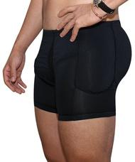 บ็อกเซอร์บุนวมสำหรับผู้ชาย,กางเกงในเสริมก้นเอวสูงชุดกระชับรูปร่าง