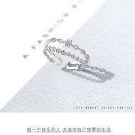 {Ready Stock}anniversary gift couple ring cincin silver 925 original cincin couple adjustable ring cincin silver perempu