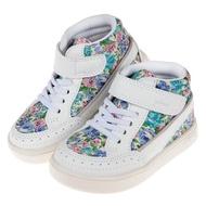 【布布童鞋】日本IFME童趣CALIN碎花白超輕量中筒兒童機能運動鞋(P9V701M)