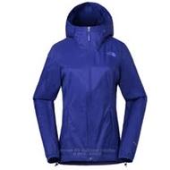 【美國 The North Face】女新款 WindWall防風防潑透氣連帽外套.輕量機能運動夾克.風衣/可打包式插手袋/3RH4 礦藍色