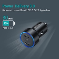 CHOETECH USB C Car Charger, 36W 2-Port Fast PD Car Charger with Dual 18W 3.0 Power Delivery Type C Car Charger Adapter Compatible with iPhone 11/11 Pro/11 Pro Max, Galaxy S10/S9, iPad Pro and More