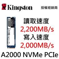 金士頓 250G 500G 1000G M.2 2280 NVMe PCIe Gen 3 1TB A2000 SSD