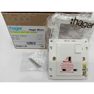 Authentic ORI HAGER MUSE 13A SWITCH SOCKET SIRIM APPROVED 250V 50/60Hz WGMS113S not vivace not ums not hager