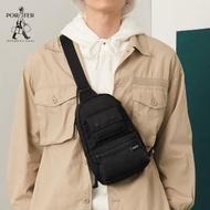 【PORTER INTERNATIONAL】BUNK帥氣型格單肩包(黑)