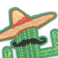 Legend cowboy cactus with hat and beard diy embroidered iron on patches brooch applique