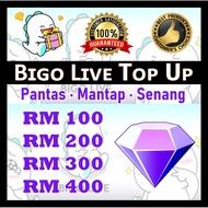 BIGO LIVE TOPUP - TOPUP BIGO LIVE - TOP UP BIGO LIVE CHEAPEST - BIGO DIAMOND - RM 100 = 1200diamond