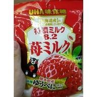 日本必買味覺糖UHA特濃牛奶糖81g 熊本熊 熊本草莓味