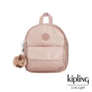 【KIPLING】唯美玫瑰金迷你後背包-ROSALIND