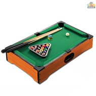 Kids Mini Billiards Pool Ball Set Indoor Billiard Game Table with Sticks Balls for Boys Girls