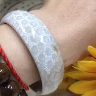 18圍天然珊瑚玉手鐲,蕾絲立體花,菊花玉手鐲手環