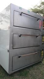 2二手 三層大型瓦斯烤箱 220V 牛排店專業大量烤牛排鐵板烤爐 拆層賣單層內部空間60*120*h30台灣製訂製品