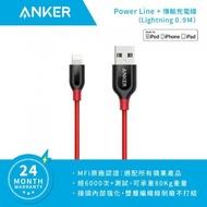 貨 📣 75折優惠【ANKER】A8121 PowerLine+ 90cm Lightning 傳輸 充電線 灰 / 紅