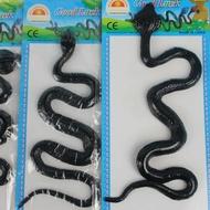 整人蛇玩具 黑色假蛇 仿真蛇/一吊12個入{促15}~YF7614