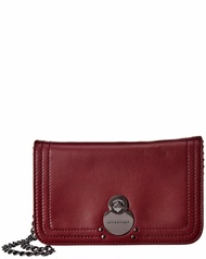 Longchamp Womens  Cavalcade Leather Wallet On Chain