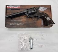 ปืนบีบีกันทรงลูกโม่Cow boy 5.5 ค่าย(Umarex)Co2 สีลายเก่า ปืนบีบีกัน แถมฟรีCO2ลูกเซรามิค1000 นัดสินค้ามือ 1สามารถเก็บเงินปลายทางได้