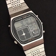 CITIZEN Digi-Ana 41-9559 Crystron LC Alarm Chime Watch made in Japan  1979's