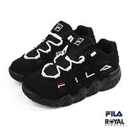 Fila Filabarricadext 黑色 麂皮 老爹 休閒運動鞋 女款 NO.J0087【新竹皇家 4-B507T-000】