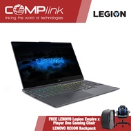 """LENOVO LEGION S7 15IMH5 82BC004XPH COMPLINK EXCLUSIVE 15.6"""" Black Intel® Core™ i7-10750H 16GB RAM 1TB SSD Nvidia 6GB GTX1660Ti Windows 10 Home OS +FREE LENOVO Legion Empire x Player One Gaming Chair + LENOVO RECON Backpack, Content Creation/ Gaming Laptop"""