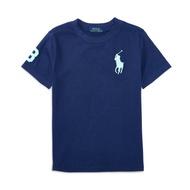 美國百分百【Ralph Lauren】T恤 RL 短袖 T-shirt Polo 大馬 素面 深藍 E102