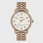 (預購)【COACH】玫瑰金logo數字鋼帶女錶(14502262)