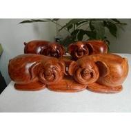 豬一對紅木木雕擺件金錢豹 豬 獨一無二的紋理 越南草花梨木雕特價