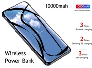 10000mah USB+Wireless Power Bank Ultra-thin Portable Polymer Battery Powerbank Ultra-thin Power-bank for Smartphone QI Charge