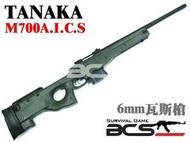 【武雄】TANAKA M700 A.I.C.S 瓦斯槍 狙擊槍-TAAICSOD