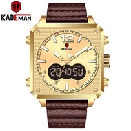 KADEMAN Men's Watches New Sport Luxury Square Watch 3ATM TOP Quality Outdoor Military Male Wristwatch