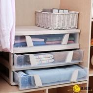 收納整理箱 床底箱扁平帶輪抽屜式超薄大號宿舍加厚儲物盒透明