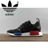 Adidas_NMD_ Runner PK OG Breathable New Arrival Men's Running_ Shoes women's Running_ shoes Unisex Sports Sneakers_ Black red