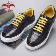 Cest พจนานุกรม100% Cro รองเท้าหนังผู้ชาย Lady รองเท้าผ้าใบ Gradient สีม่วงสีสบายๆรองเท้า Custom Handmade Designer รองเท้า