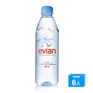 Evian愛維養天然礦泉水500ml*6入/組