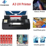 Punehod Factory Price UV Flatbed Printer DTG Tshirt Print Machine A3 Size Fully Automatic White Ink Circulation With Fre