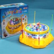 聲光電動釣魚組 釣魚遊戲 電動旋轉釣魚盤(附電池)/一個入{促299}~睿GSG2532