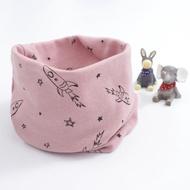 【童話飾界】親子款薄料-百搭套頭圍巾兒童圍脖-脖套口罩帽子頭巾(太空火箭/薔薇粉)