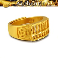 916gold abacus ring men's 916 real 916gold