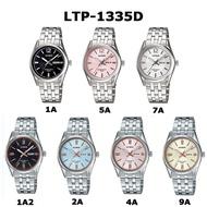 Casio Standard Enticer นาฬิกาข้อมือผู้หญิง สายสแตนเลส รุ่น LTP-1335D
