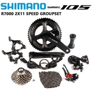 SHIMANO 105 R7000 RS700 Groupset 2x11 Speed 165/170/172.5/175mm 50-34T 52-36T 53-39T Crankset RS700 Shifter Kit Road Bike Bicycle Groupset
