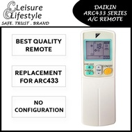 [FREE MAILING][Cover With Warranty] Daikin Aircon Remote Control ARC433 Daikin Remote