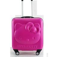 hello kitty猫母子拉杆箱兒童18寸3d萬向輪行李箱女定做abs登主機殼