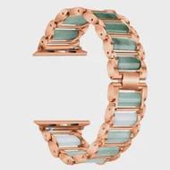 สร้อยข้อมือสำหรับ Apple Watch Band Series 5 4 3 2 1สำหรับ IWatch 40 44 38 42มม.Emerald โลหะปรับสายรัดข้อมือ Myl-