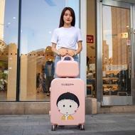 กระเป๋าเดินทางใบเล็กน่ารักญี่ปุ่น20นิ้วน้ำหนักเบารหัสผ่านดึงก้านตัวถังแข็งแรงและทนทาน24สาวหนา26