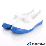 日本月星Moonstar機能童鞋-抗菌防滑室內鞋015白/藍(中小童段) 618購物節