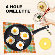 4-hole iron frying pan, non stick coating, flat pan, breakfast pan, 4-hole small frying pan, electric pottery stove, poached egg frying pan