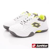 Lotto樂得-全地形網球鞋 SI805白螢光綠(男段)
