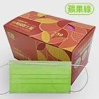 台灣國際生醫 雙鋼印 一般醫療口罩(50入盒裝)-蘋果綠