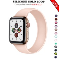 Solo Loop silicone strap for Apple Watch Band iwatch series SE 6/5/4/3/2/1 44mm 42mm 40mm 38mm Apple watchband Accessories