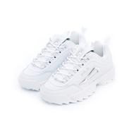 【FILA】DISRUPTOR 2 女運動鞋5-C608T-103(老爹鞋/鋸齒鞋)-白底銀 - 原價2480元