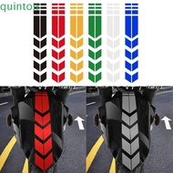 QUINTON 1PC Reflective Sticker Creative Fender Sticker Motorcycle Sticker Waterproof Exterior Accessories Reflective Tape Fender Decor Personality Safety Warning Motorcycle Accessories/Multicolor